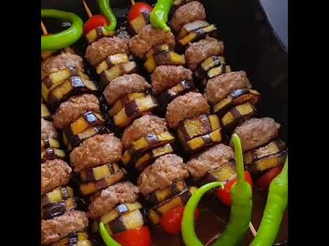 Patlıcanlı Şiş Kebab Tarifi
